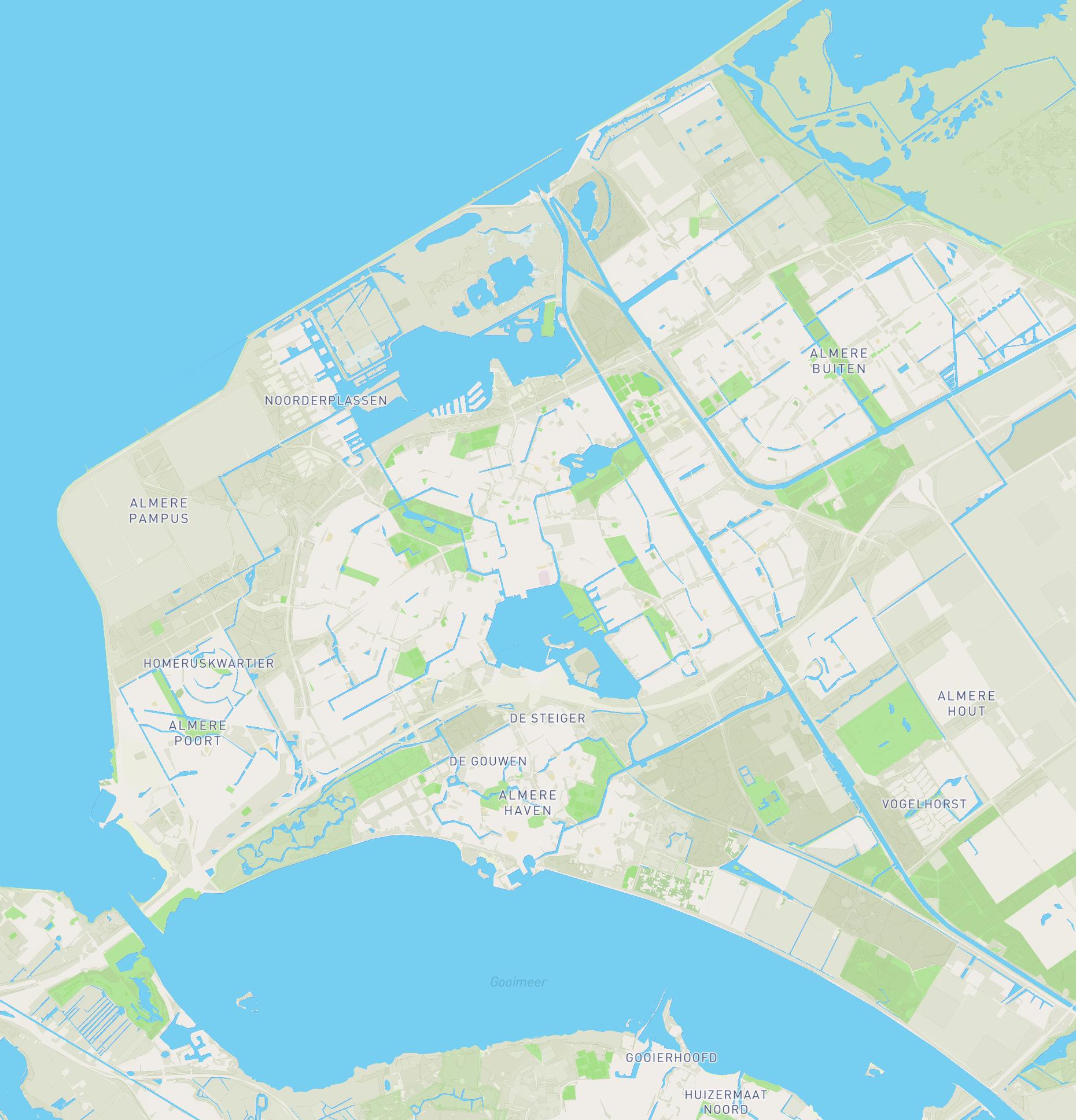 Kaart Almere Sloepverhuur